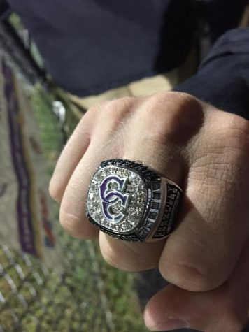 Baseball players receive state rings