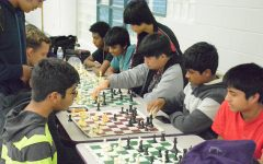 Chess club members play games against each other after school to sharpen their skills.