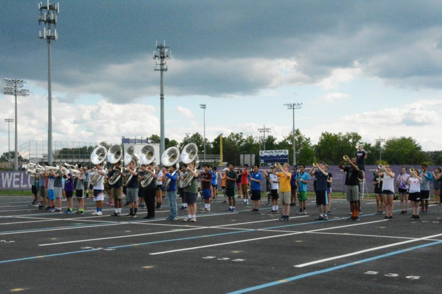 The Mighty Marching Chargers practice on Tuesdays, Wednesdays and Thursday every week in order to prepare for their competitions and halftime performance at football games.