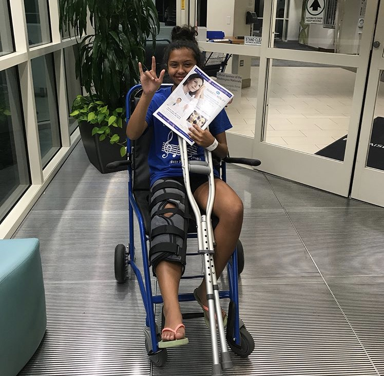 After suffering from an injury doing a front round off, Reyes-Rivera was treated for her torn anterior cruciate ligament. She will undergo reconstructive surgery this December for treatment.