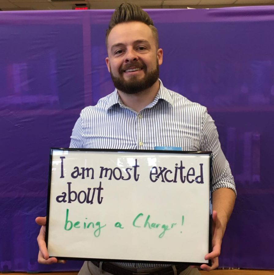 Math teacher Jalil Andraos expresses his excitement to be a part of the Chantilly community.