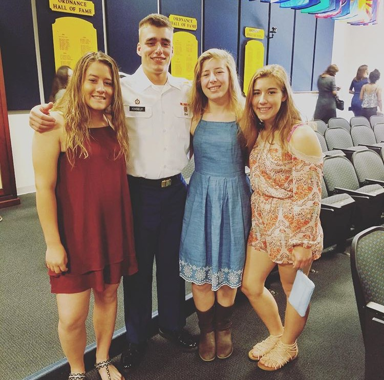 Sophomore Renae Knisely, second from the right, poses with three of her four biological siblings at her brother's army tech school graduation.