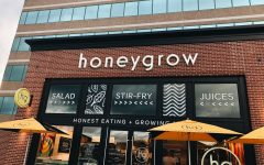 Honeygrow has an aesthetic setup which matches the theme with the restaurant and the food served.