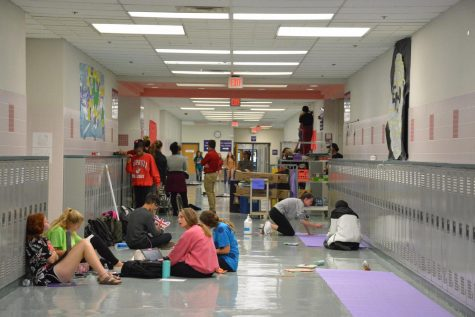 The classes each decorate hallways during homecoming week.