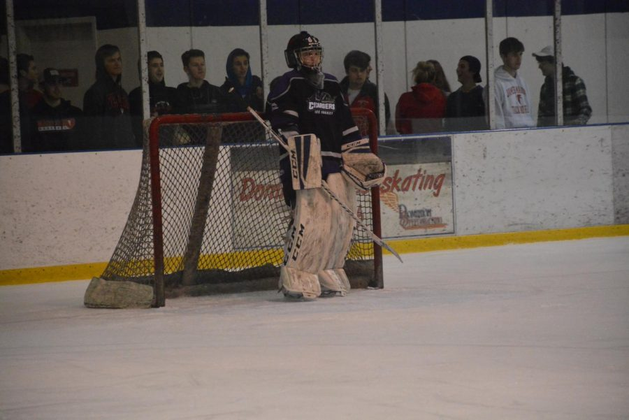 Sophomore Jonathan Hillelsohn is a goalie for the Chantilly ice hockey team, which currently has an 8-1 record this season.