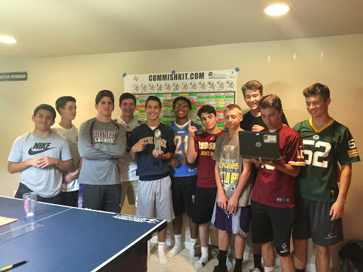 Senior Nick Giannini and his group of friends come together to celebrate the March Madness tournament by holding a friendly competition to see who gets the most accurate bracket.
