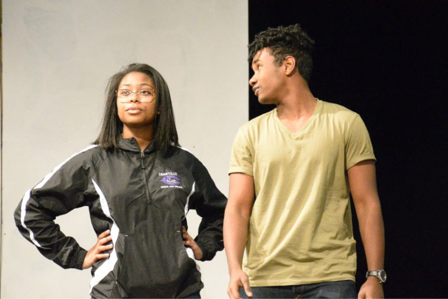 Juniors Janna Foy and Amaro Ibrahim portray their roles as Hippolyta and Theseus. The play has two casts that will alternate acting each show.