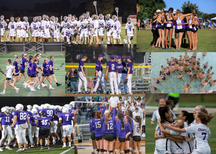 Chantilly athletes celebrate their successes on the field, each team building its own community and developing friendships that will last a lifetime. By listening to others and trusting one another, players strengthen the team bonds and work together to be successful.
