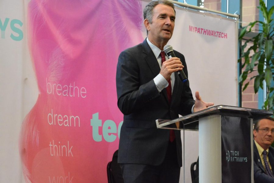Governor+Ralph+Northam+visited+Chantilly+to+speak+about+expanding+tech+skills+to+the+youth+and+strengthening+STEM+in+Virginia.+He+promoted+the+Tech+Pathways+program%2C+which+is+designed+to+encourage+students+to+consider+tech-related+jobs.