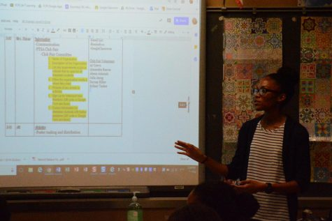 Club president Ruby Carter-Ogden introduces the schedule at a recent BSA meeting. The club will be participating in numerous events this year.