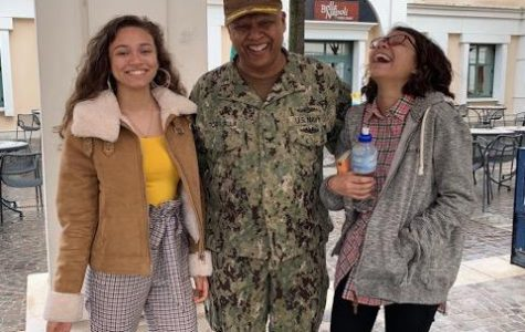 Senior Kailani Torruella (left) poses with her sister and father in Naples, Italy. Their father's Naval career has allowed them to explore and experience a range of foreign places.