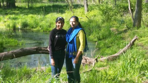 Sophomore Aarthika Krishnan poses with her mom during one of their weekly nature walks. Just like most other families during this time at home, spending time outdoors has become a pastime for Krishnan
