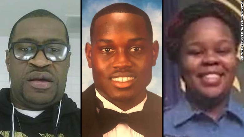 This image depicts George Floyd (left), Ahmaud Arbery (middle) and Breonna Taylor (Right)  Source: CNN