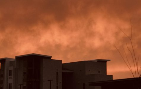 On August 19, wildfires expanded over the streets of Sacramento, California and transformed the sky into a red-orange color.