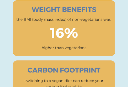 Vegetarian diets contribute to more ethical environment