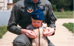 Lieutenant Colonel Lambert spends time with his son when at home.