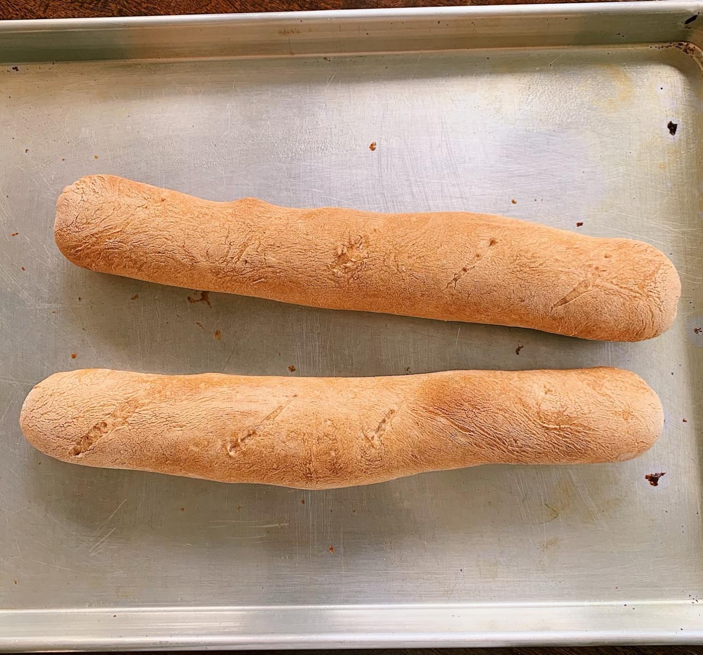 Senior Diya Khilnani bakes her own bread including French baguettes.