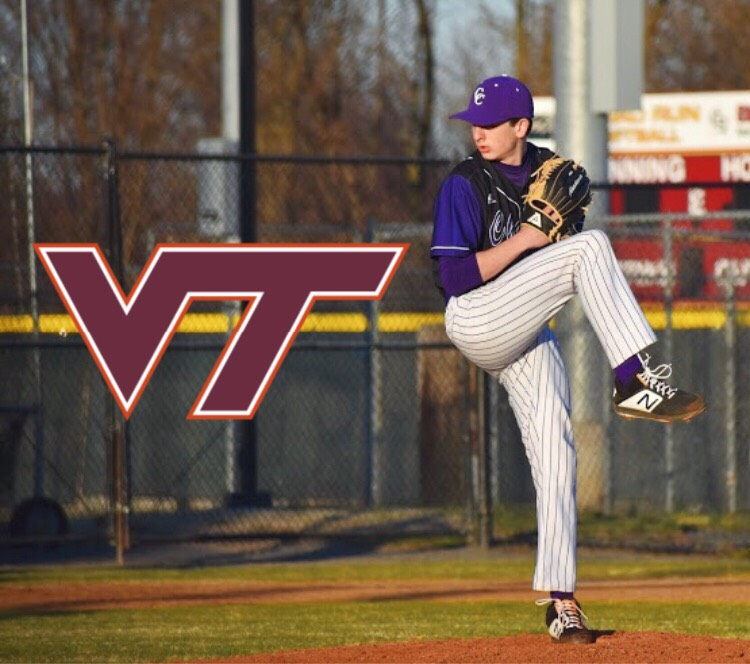 Junior Marcus Dux committed to play baseball at Virginia Tech.