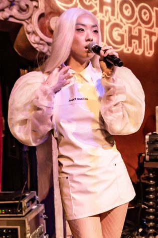 Rina Sawayama performs at Bardot Hollywood in Los Angeles, California, on April 30, 2018.