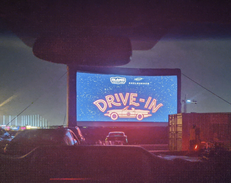 The opening screen at Alamo Draft house drive-in movie in October to provide arrival time.