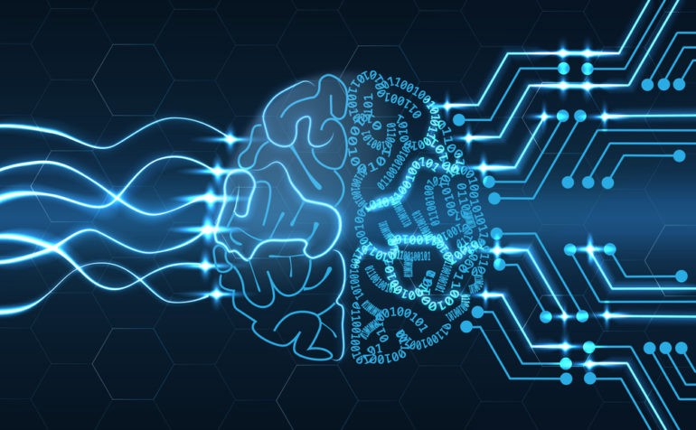 This shows the indicative of the relationship between a human brain and AI learning- an AI tool analyzes data using algorithms that a human has programmed.