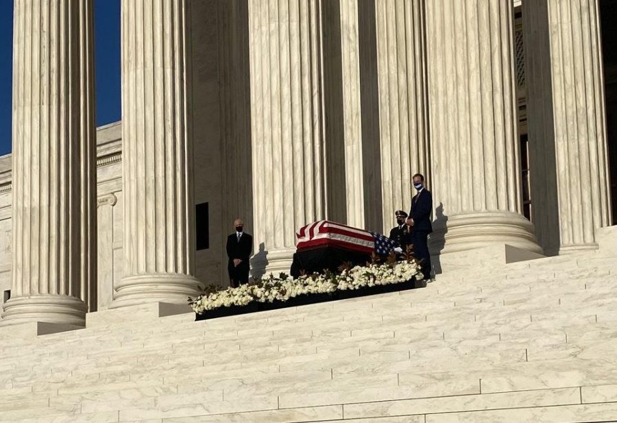 Ruth Bader Ginsburg lies in state at the U.S. Capitol building as civilians pay their respects.