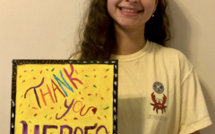 Painting made by Sara Awad, president of Key Club, for essential workers during COVID-19.