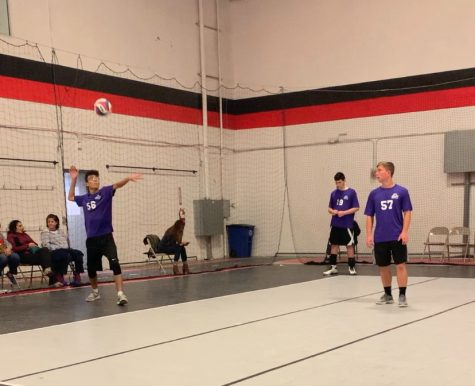 Junior Ayham Elayan serves the ball at NVVA with his 2019 fall CYA team.