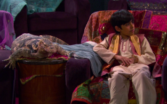 "A stereotypical character represents false interpretations of Indian culture in a scene from ""Jessie,"" streaming on Disney+."