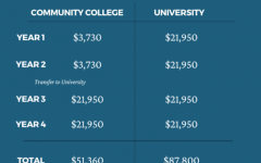 Costs vary greatly between community colleges and four-year colleges and universities. Sources: USAA, WSCC, and Shostal Associates