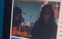 Freshman Sameera Pasham chats with others on Omegle, an anonymous video calling site, in December 2020.