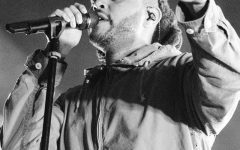 Picture of Abel Tesfaye, also known as the Weeknd, performing at Bumbershoot 2015.