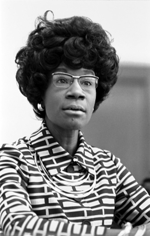 Shirley Chisholm, the first African American elected to Congress, announced her candidacy for president in 1972