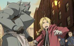 Brothers Edward and Alphonse Elric fight an alchemist in Fullmetal Alchemist: Brotherhood