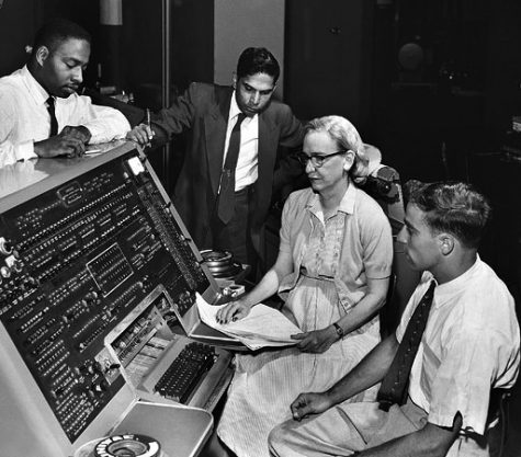 Grace Hopper, an avid contributor to the field of computer science, helps to develop the first digital computer, the UNIVAC.