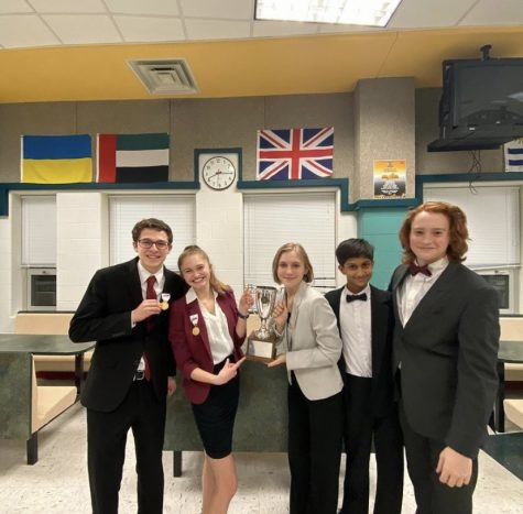 The forensics team wins Super Regionals on Feb. 26, 2020, and advanced to the state competition.
