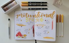 Junior Taylor Ko uses her bullet journal to jot down motivational quotes.