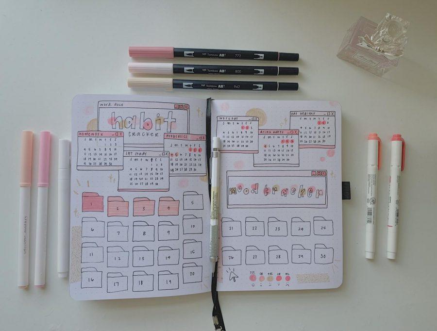 Junior Taylor Ko tracks her daily habits through her bullet journal.