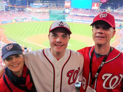 Counselor Rebecca Funk-Clonts attends a baseball game with her family.