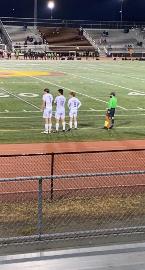 Junior and varsity soccer player Ethan Karam was being subbed back on during a game against Oakton Highschool on May 6.
