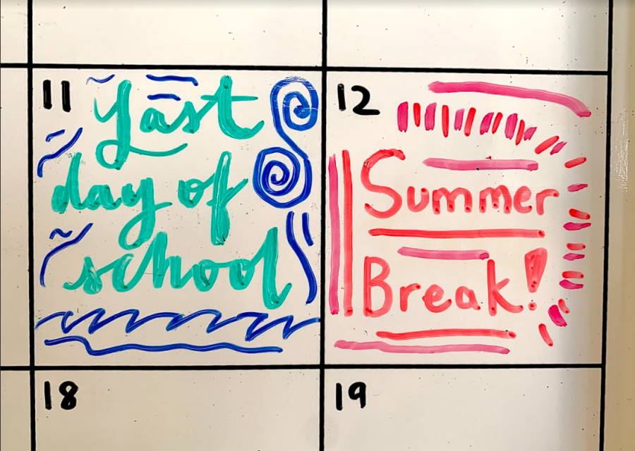 Many students mark their calendar so they know how many days are left before the end of the school year. This year, summer break starts on June 12.