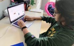 Junior Harini Sethu demonstrates taking PE in the sumer online format.