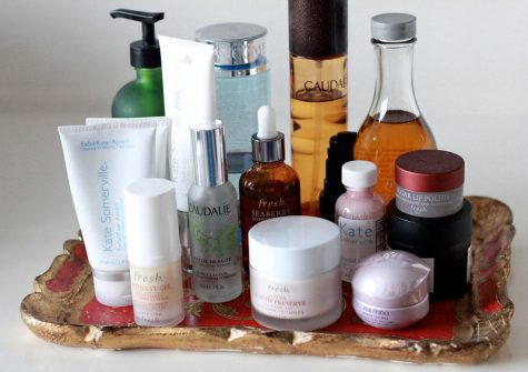 The market is flooded with skincare products.