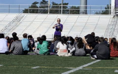Nawal Africano teaches her sixth period physical education class.